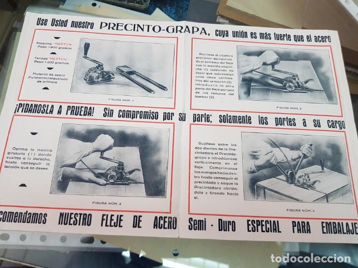 Catálogos publicitarios: ANTIGUO FOLLETO CATALOGO PUBLICITARIO MAQUINARIA NEPTUN ROCANDIO Y CIA EIBAR EXPOSICION DE SEVILLA - Foto 2 - 254359185