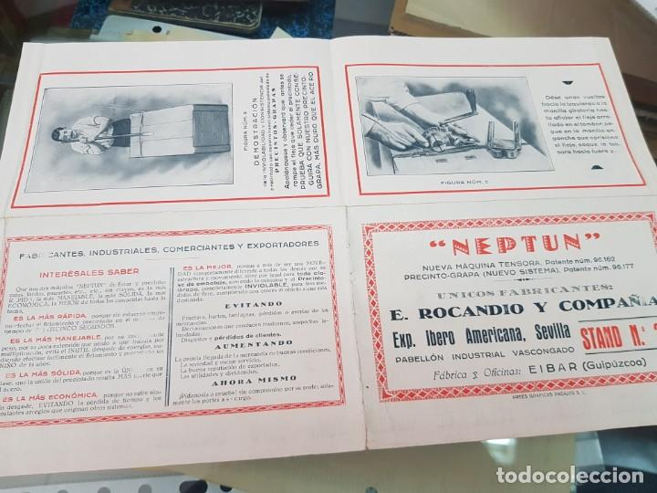 Catálogos publicitarios: ANTIGUO FOLLETO CATALOGO PUBLICITARIO MAQUINARIA NEPTUN ROCANDIO Y CIA EIBAR EXPOSICION DE SEVILLA - Foto 3 - 254359185