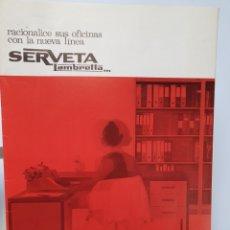 Cataloghi pubblicitari: SERVETA LAMBRETTA. MUEBLES DE OFICINA. EIBAR 1969. CATALOGO PUBLICITARIO.. Lote 254542490