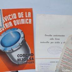 Cataloghi pubblicitari: CORCHO E HIJOS. SANTANDER. ESMALTES ANTICORROSIVOS. ANTIGUA PUBLICIDAD.. Lote 254575050