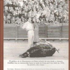 Catálogos publicitarios: FOLLETO. REPRODUCCIÓN ANTONIO ORDOÑEZ. FERÍA ABRIL SEVILLA 1958. (P/D51). Lote 254944060