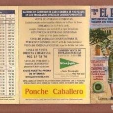 Catálogos publicitarios: TOROS EN EL PUERTO DE SANTA MARIA: TEMPORADA 2002. (P/D51). Lote 254945095