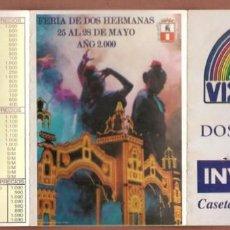Catálogos publicitarios: FERÍA DE DOS HERMANAS 2000. INVITACIÓN CASETA ¨LOS DE AQUͨ. (P/D51). Lote 254945455
