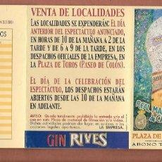 Catálogos publicitarios: PLAZA DE TOROS DE SEVILLA. ABONO TEMPOTADA 2002. (P/D51). Lote 254945770