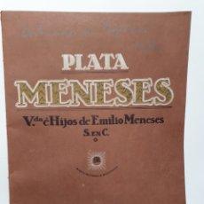 Catálogos publicitarios: PLATA MENESES. VDA E HIJOS DE EMILIO MENESES. CATALOGO ARTICULOS DE IGLESIA. 1924.. Lote 256170350