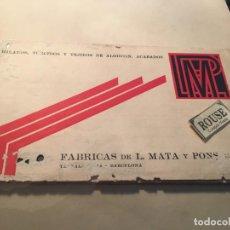 Catalogues publicitaires: ANTIGUO CATALOGO FABRICAS DE L. MATA Y PONS C.A. EXPOC. BARCELONA 1929 HILADOS TORCIDOS Y TEJIDOS DE. Lote 257689685