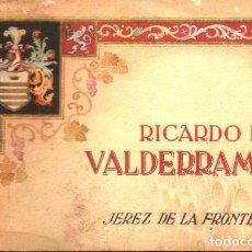 Catálogos publicitarios: RICARDO DE VALDERRAMA JEREZ DE LA FRONTERA - ANTIGUO CATÁLOGO DE VINOS EN COLOR - 32 PÁGINAS. Lote 261656655