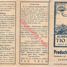Catálogos publicitarios: PEQUEÑO FOLLETO ALIMENTICIOS TIO NELO DESPLEGABLE CON RECETAS . ROSET 12 / 6 CM COCINA. Lote 261665545