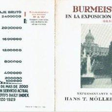 Catalogues publicitaires: FOLLETO BURMEISTER & WAIN,LTD.- COPENHAGUE- EXPOSICION UNIVERSAL DE BARCELONA.- 1929.. Lote 262119250