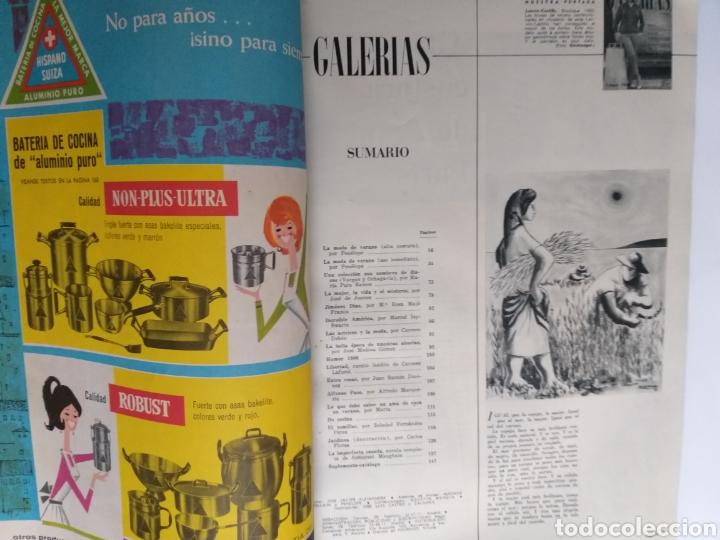Catálogos publicitarios: Revista Galerías .Verano 1959 ,verano 1960 ,y otoño 1959 . Revistas historia patronaje moda . - Foto 18 - 262296670
