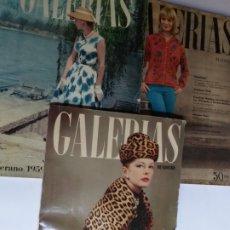 Catálogos publicitarios: REVISTA GALERÍAS .VERANO 1959 ,VERANO 1960 ,Y OTOÑO 1959 .. Lote 262296670