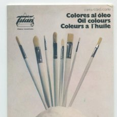 Catálogos publicitarios: CATÁLOGO DE COLORES AL ÓLEO MARCA TITÁN (1972). Lote 262784025