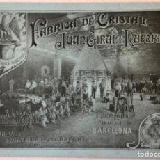 Catálogos publicitarios: FÁBRICA DE CRISTAL DE JUAN GIRALT LAPORTA. TARIFA DE PRECIOS 1904. - [CATÁLOGO.]. Lote 263249995