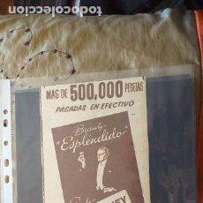 Catálogos publicitarios: PUBLICIDAD-HOJA RECORTE PRENSA-30X12CM-BRANDY ESPLENDIDO GARVEY. Lote 263742865