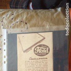 Catálogos publicitarios: PUBLICIDAD-HOJA RECORTE PRENSA-30X12CM-FLOID. Lote 263743115