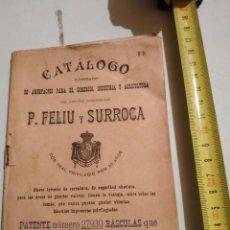 Catálogos publicitarios: RARO CATALOGO ARTEFACTOS PARA EL COMERCIO P.FELIU Y SURROCA. Lote 263769355