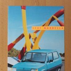 Catalogues publicitaires: FOLLETO CATALOGO DESPLEGABLE SEAT MARBELLA. Lote 264849059