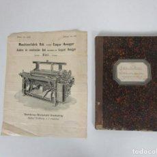 Catálogos publicitarios: INDUSTRIA TEXTIL - CATÁLOGO RECAMBIOS PARA TELARES RÜTI - GASPAR HONEGGER - AÑO 1904. Lote 265213094