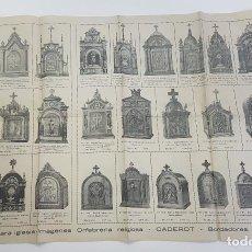 Catalogues publicitaires: CATÁLOGO CADEROT MADRID 1948. SAGRARIOS Y URNAS. ORFEBRERÍA RELIGIOSA. ORNAMENTOS PARA IGLESIA.. Lote 266470163