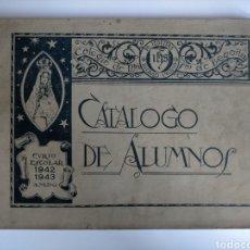 Catálogos publicitarios: CATÁLOGO DE ALUMNOS CURSO 1942 - 1943 COLEGIO JESUITAS DE INDAUCHU (BILBAO). Lote 266516833