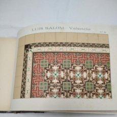 Catálogos publicitários: CATALOGO DE BALDOSAS DE PRINCIPIOS DE SIGLO XX. LUIS SALOM. VALENCIA. Lote 266570643