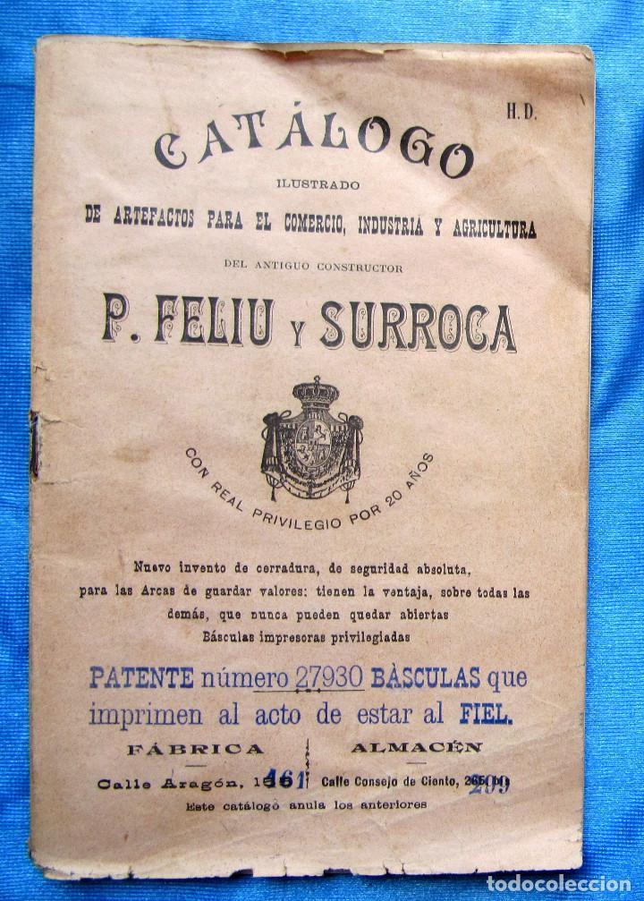 CATÁLOGO DE ARTEFACTOS PARA EL COMERCIO INDUSTRIA Y AGRICULTURA. P. FELIU Y SURROCA. BARCELONA, S/F. (Coleccionismo - Catálogos Publicitarios)