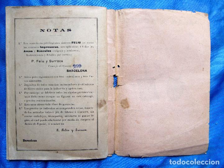 Catálogos publicitarios: CATÁLOGO DE ARTEFACTOS PARA EL COMERCIO INDUSTRIA Y AGRICULTURA. P. FELIU Y SURROCA. BARCELONA, S/F. - Foto 14 - 267336179
