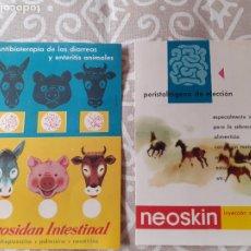 Catálogos publicitarios: TARJETA PUBLICITARIA FARMACIA NEOSAN VETERINARIA. Lote 267416739
