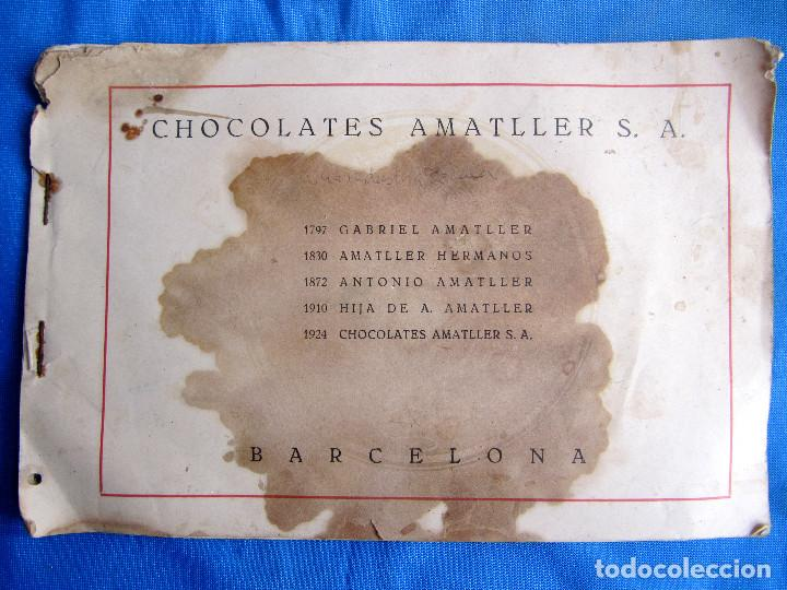 UNA INDUSTRIA SECULAR CHOCOLATES AMATLLER. POSTERIOR A 1923. (Coleccionismo - Catálogos Publicitarios)
