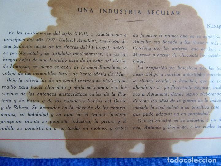 Catálogos publicitarios: UNA INDUSTRIA SECULAR CHOCOLATES AMATLLER. POSTERIOR A 1923. - Foto 3 - 267622734