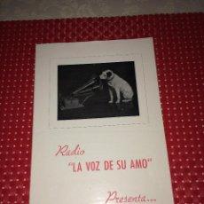 Catálogos publicitarios: RADIO LA VOZ DE SU AMO - PUBLICIDAD RECEPTOR R.510 - AÑOS 40 - DÍPTICO PUBLICITARIO. Lote 267719534