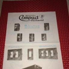 Catálogos publicitarios: MATERIAL ELÉCTRICO COMPACT PLASTIMETAL - HOJA PUBLICITARIA - AÑOS 50. Lote 267750004