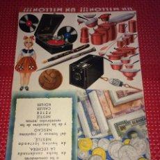 Catálogos publicitarios: LA LECHERA - NESTLÉ - UN MILLÓN DE PTAS. EN REGALOS - AÑO 1935. Lote 267756839