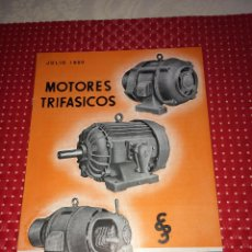 Catálogos publicitarios: MOTORES TRIFÁSICOS SIEMENS - JULIO 1950 - CATÁLOGO - CORNELLÁ - BARCELONA. Lote 267757564