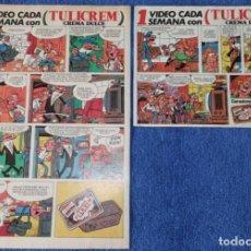 Catálogos publicitarios: RECORTES PUBLICITARIOS DE TULICREM - MORTADELO Y FILEMON. Lote 268957589