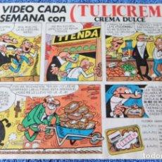 Catálogos publicitarios: RECORTE PUBLICITARIO DE TULICREM - MORTADELO Y FILEMON. Lote 268957634