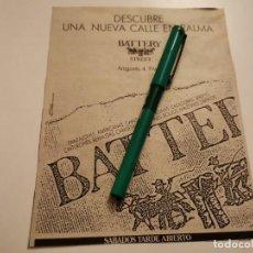 Catálogos publicitarios: TIENDA ROPA BATTERY STREET ARAGONES 4 PALMA DE MALLORCA ANUNCIO PUBLICIDAD PERIÓDICO 1988. Lote 268998169