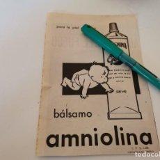 Catálogos publicitários: BÁLSAMO BEBÉ AMNIOLINA GEVE ANUNCIO PUBLICIDAD REVISTA AÑO 1965. Lote 269303253
