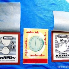 Catálogos publicitarios: KUELIN. PUBLICIDAD: CONJUNTO LOTE DE ARTE FINAL, MAQUETAS Y PRUEBAS. 1950'S. Lote 269625073