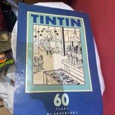 Catálogos publicitários: TINTIN : 60 YEARS OF ADVENTURE. POSTER (60X30 CM). Lote 270152923