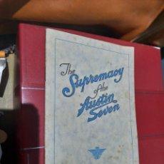 Catálogos publicitários: AUSTIN SEVEN CATALOGO PUBLICITARIO 1924. Lote 115551288