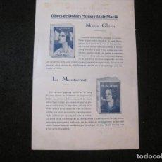 Catálogos publicitarios: OBRES DE DOLORS MONSERDA DE MACIA-CATALEG DE PUBLICITAT-VER FOTOS-(K-3622). Lote 274016403