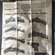Catalogues publicitaires: CARTEL - CATÁLOGO / CRUCELEGUI HERMANOS / FABRICACIÓN DE ARMAS DE FUEGO / BROWNING / LOGROÑO 1919. Lote 274357028