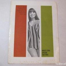 Catálogos publicitarios: BAÑADORES DE MUJER Y HOMBRE-WHITE STAF SPEEDO FOR 1968-CATALOGO PUBLICIDAD-VER FOTOS-(V-22.852). Lote 274407243