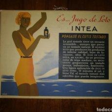 Catálogos publicitarios: PUBLICIDAD INTEA AÑOS TREINTA. Lote 274556678