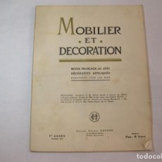Catálogos publicitarios: MOBILIER ET DECORATION-FEBRERO 1927-CATALOGO PUBLICIDAD MUEBLES Y DECORACION-VER FOTOS-(V-22.839). Lote 275570868