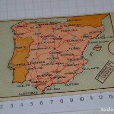 Catálogos publicitarios: ESPAÑA / CURIOSO MAPA DE ESPAÑA, CON DISTANCIAS KILOMÉTRICAS - PUBLICIDAD HISPANO OLIVETTI - MÁLAGA. Lote 277025538