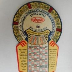 Catálogos publicitarios: ANTIGUO FECHADOR COMBINADO.CHOCOLATES AMATLLER.BARCELONA AÑOS 30?. Lote 277086083