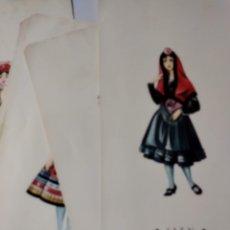 Catálogos publicitarios: 6 LÁMINAS TRAJES REGIONALES 1970. Lote 277304908