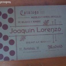 Catálogos publicitarios: ANTIGUO CATÁLOGO MUEBLES DE BEJUCO Y MIMBRE JOAQUÍN LORENZO MADRID. Lote 277475688